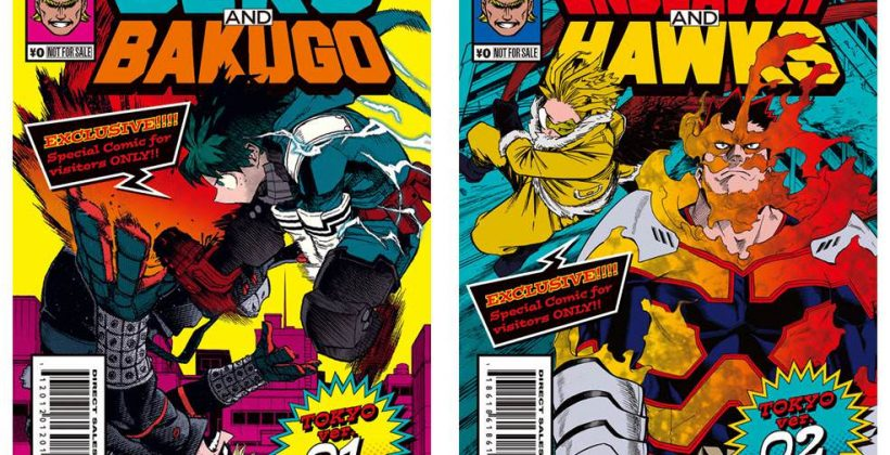 My Hero Accademia Exhibition Privilege Booklets Comes Out As Amerian Comic Style! ~Deku & Bakugo, Endeavor & Hawks~